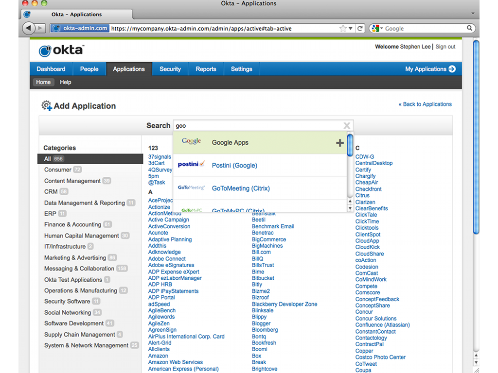 Zendesk Okta App Screenshot