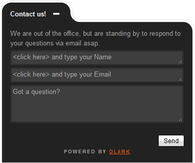 Zendesk Olark live chat App Screenshot